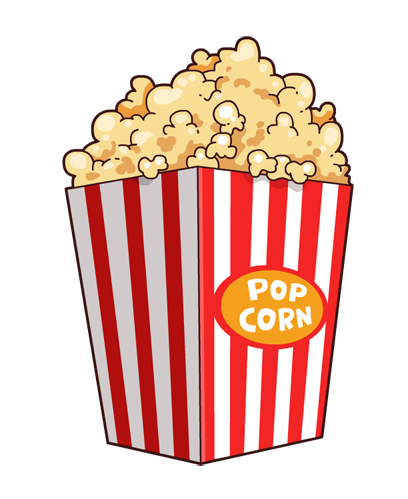 408x499 Popcorn Clip Art
