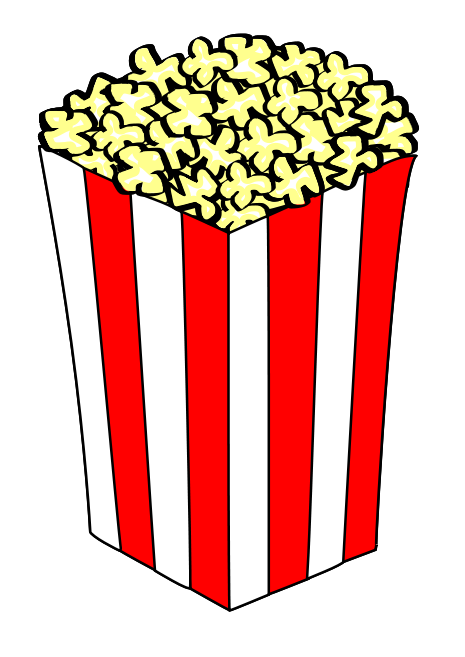 465x657 Popcorn Clip Art Black And White Free Clipart Images