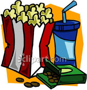 291x300 Popcorn Clipart Movie Candy