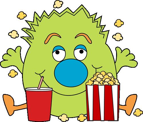 500x427 Popcorn Clip Art
