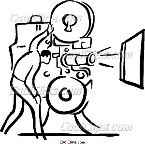 300x298 Movie Projector And Operator Vector Clip Art