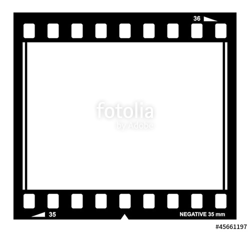 500x464 Blank Vector Film Strip Border Stock Image And Royalty Free