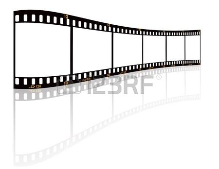 450x348 Vintage Movie Film Strip With Countdown Border Over Grunge