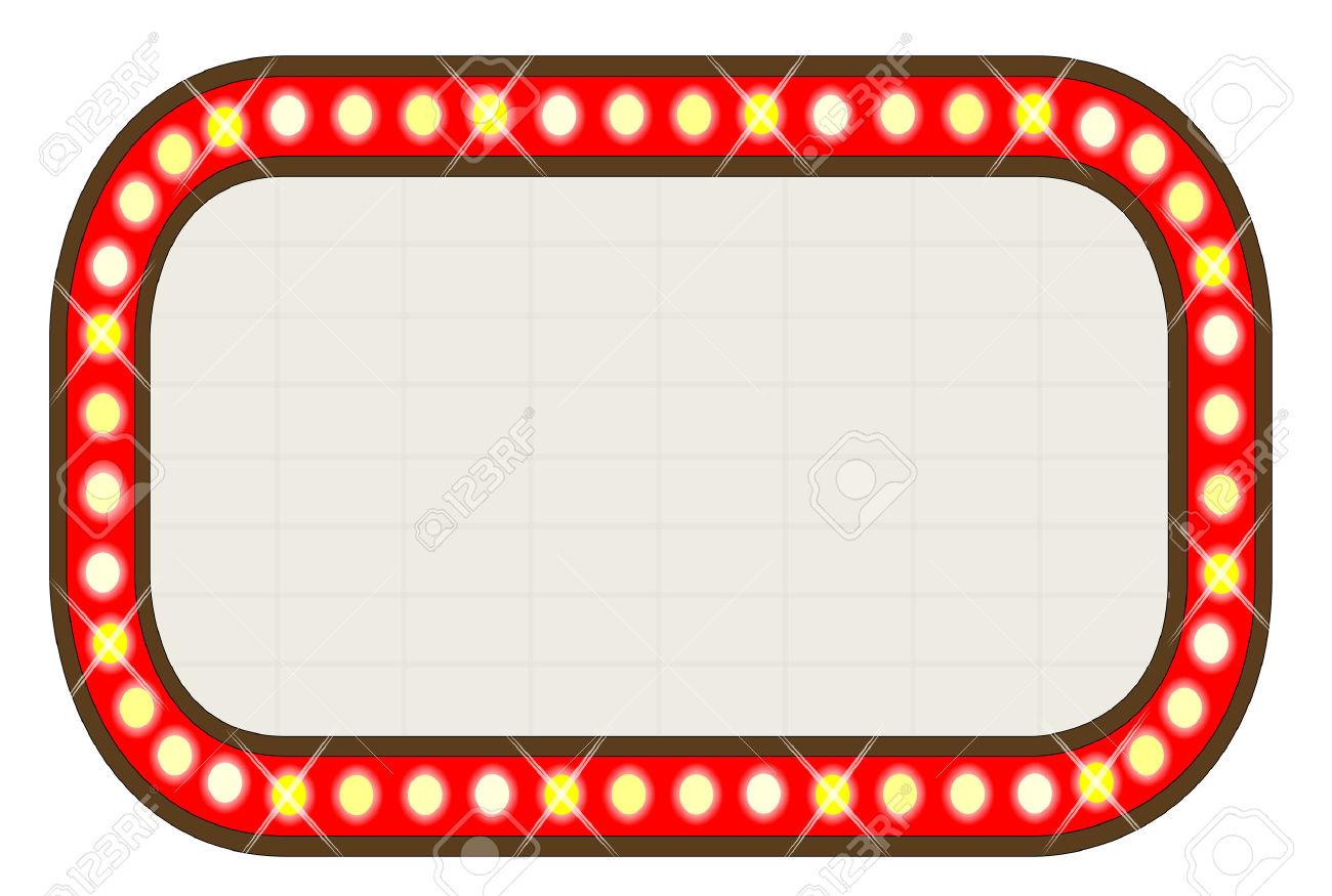 1300x875 Movie Marquee Clipart