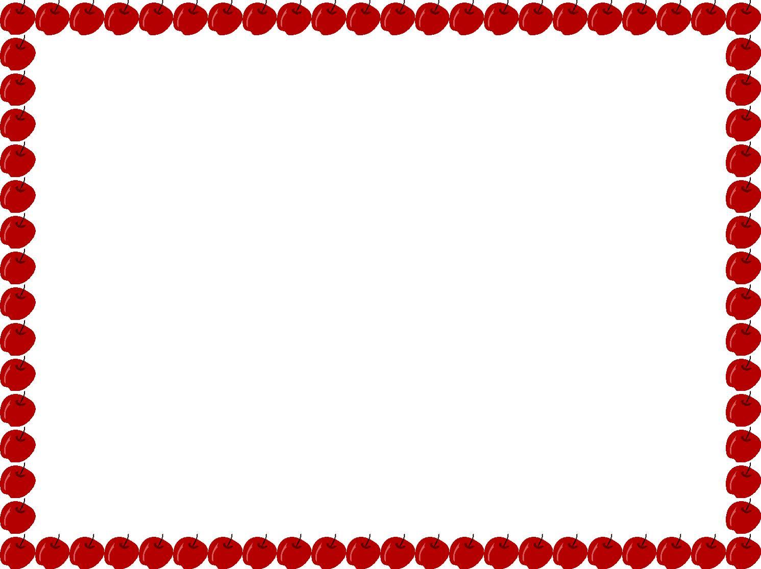 1491x1115 Apple Border Clipart