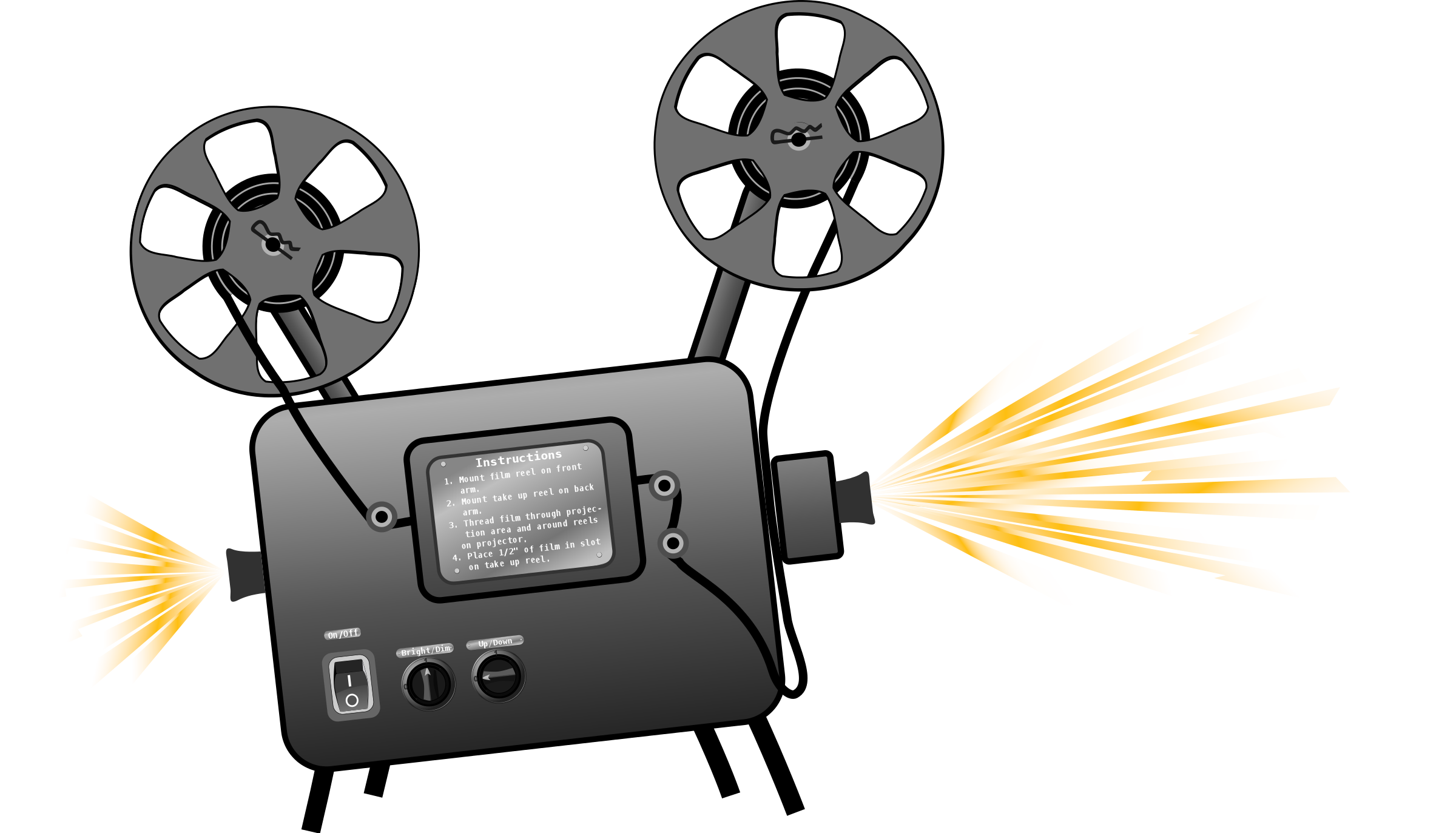 2400x1373 Movie Projector Clipart