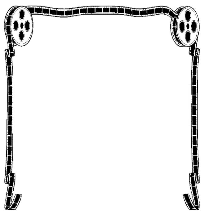 658x690 Movie Reel Frame Clipart Clipart