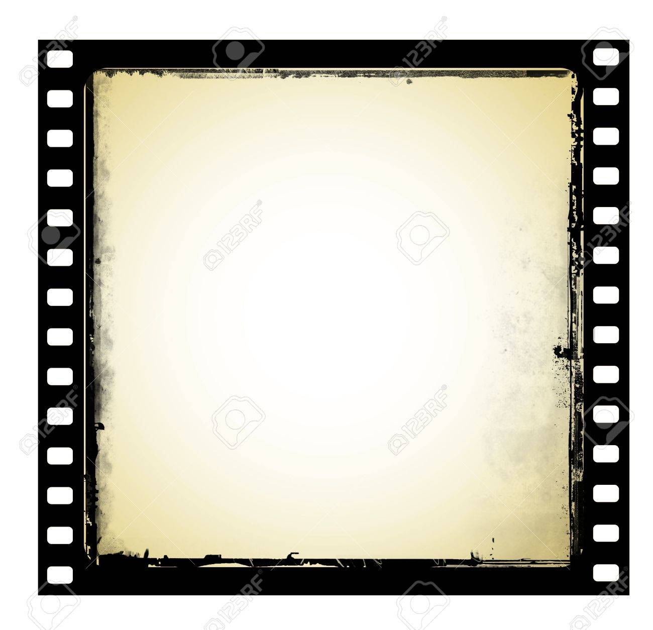 1300x1254 Old Film Frame In Grunge Style Stock Photo, Picture And Royalty
