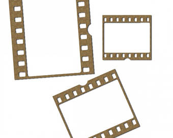 340x270 Photo Strip Frames Film Strip Stiffened Felt Black Film Strip