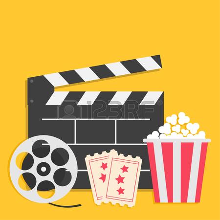 450x450 3d Glasses Movie Reel Open Clapper Board Popcorn Cinema Icon