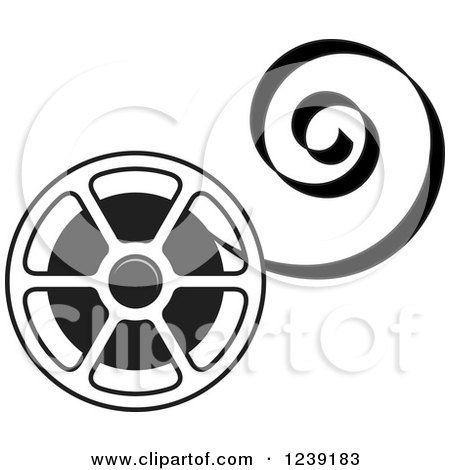 450x470 Clipart Of A Movie Film Reel