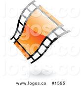 164x175 Royalty Free Film Reel Stock Logo Designs