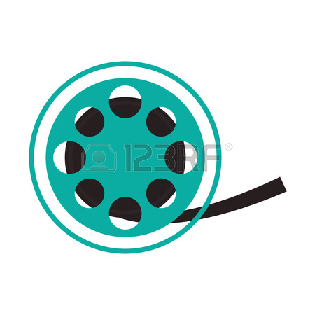 450x450 Video Camera Movie Film Reel Cinema Icon. Colorfull And Grunge