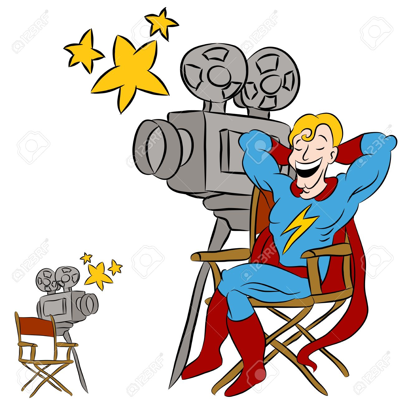 1300x1300 Camera Clipart Movie Star