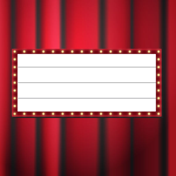 600x600 Clip Art Of The Movie Display Board