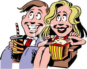 300x238 Couple In A Movie Theater Clipart Image