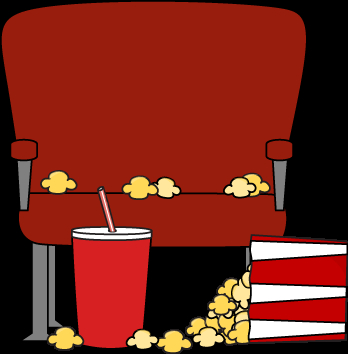 348x354 Movie Theater Clipart