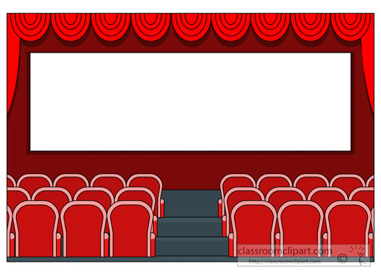 550x400 Movie Theater Clipart 3