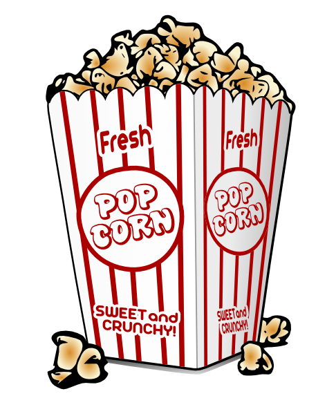 486x602 Popcorn Clip Art