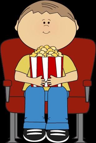 308x459 Boy In Movie Theater Clip Art