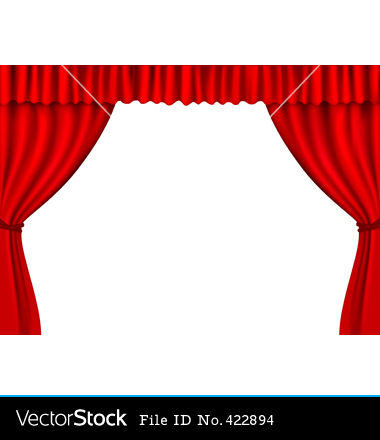 380x440 Theater Curtain Clipart