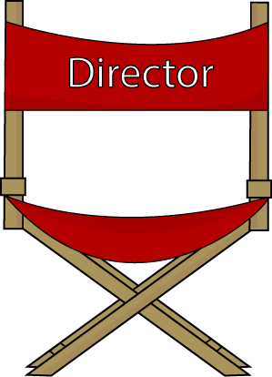 299x414 Theatre Clipart Director Chair