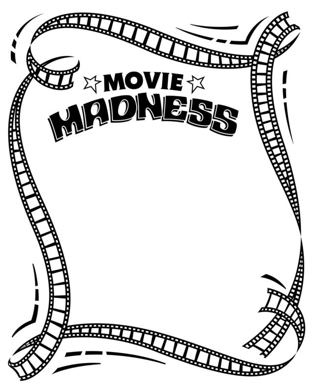 Movie Ticket Clipart Black And White