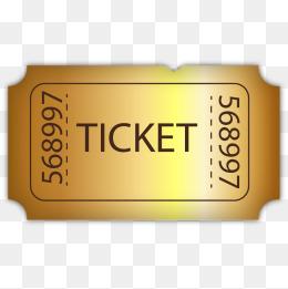 260x261 Movie Tickets Vector Material Golden, Golden, Movie Ticket, Vector
