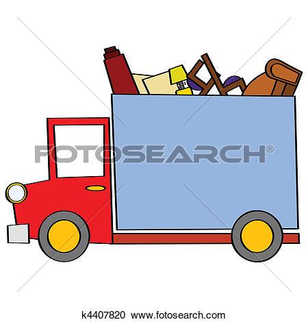 450x470 Moving Truck Clip Art