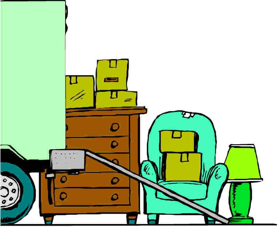 939x768 Moving Truck Clipart Image Colorful Cartoon Moving Van Or Truck
