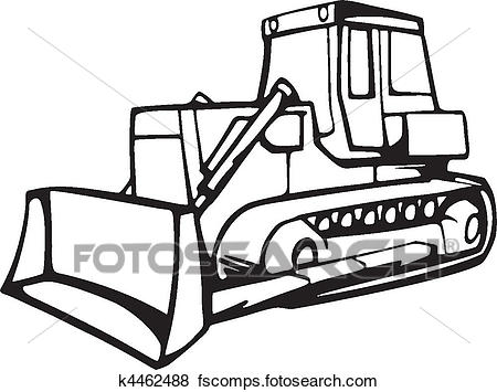 450x355 Clip Art Of Earth Moving Vehicles K4462488
