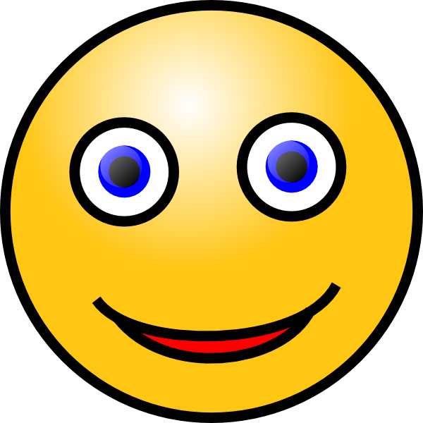 600x600 Smiley Face Clip Art