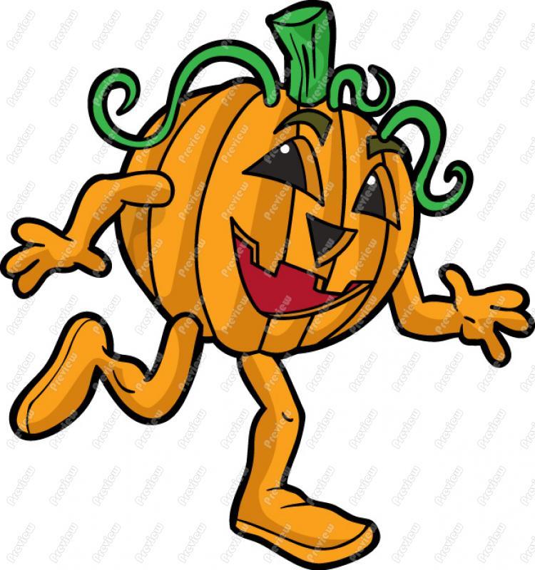 750x800 Pumpkin Running Clipart