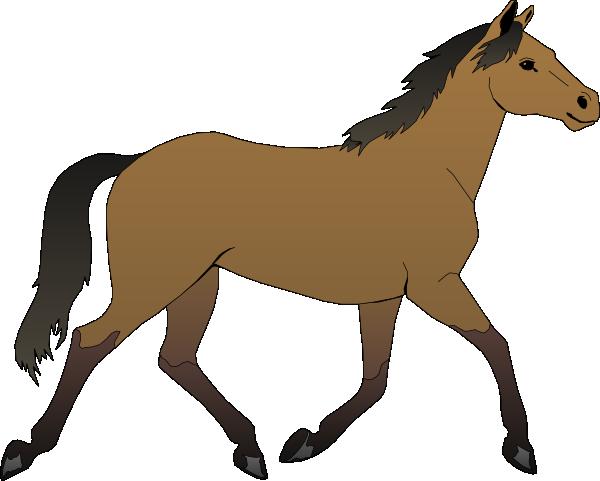600x481 Running Horse Clip Art