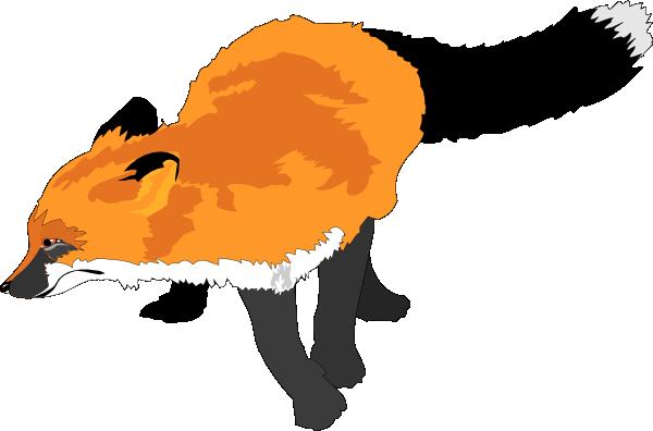 600x396 Fox Running Clip Art