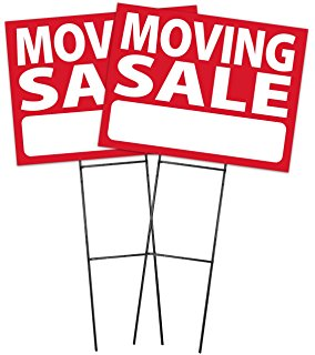 284x320 Moving Sale Sign Kit