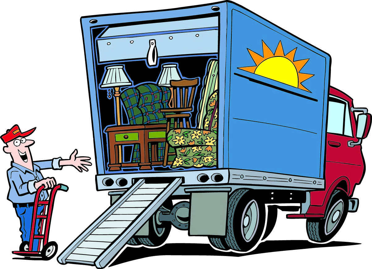 1204x871 Sale Moving Truck Clipart