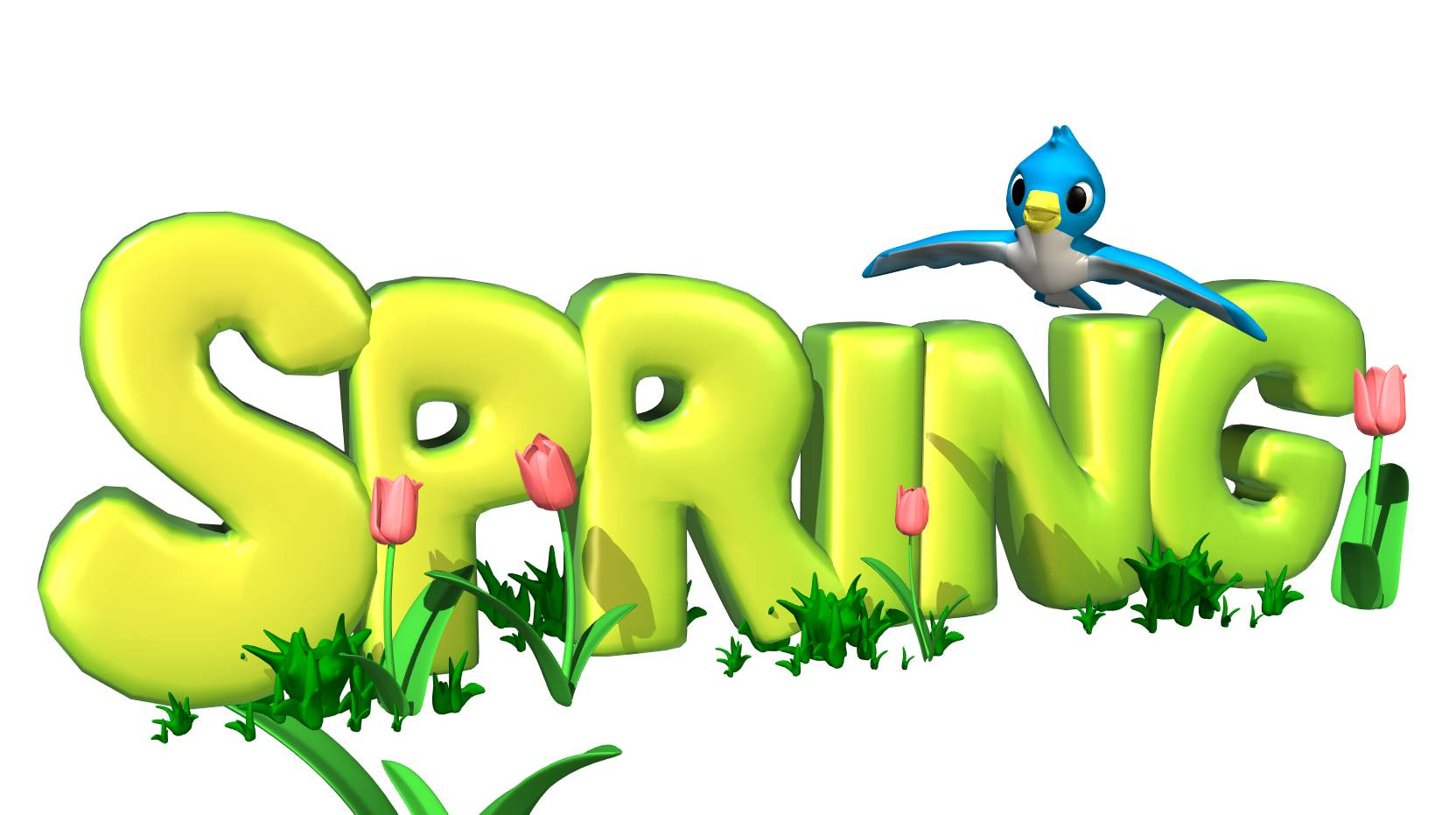 1664x931 Spring Clipart Cartoon