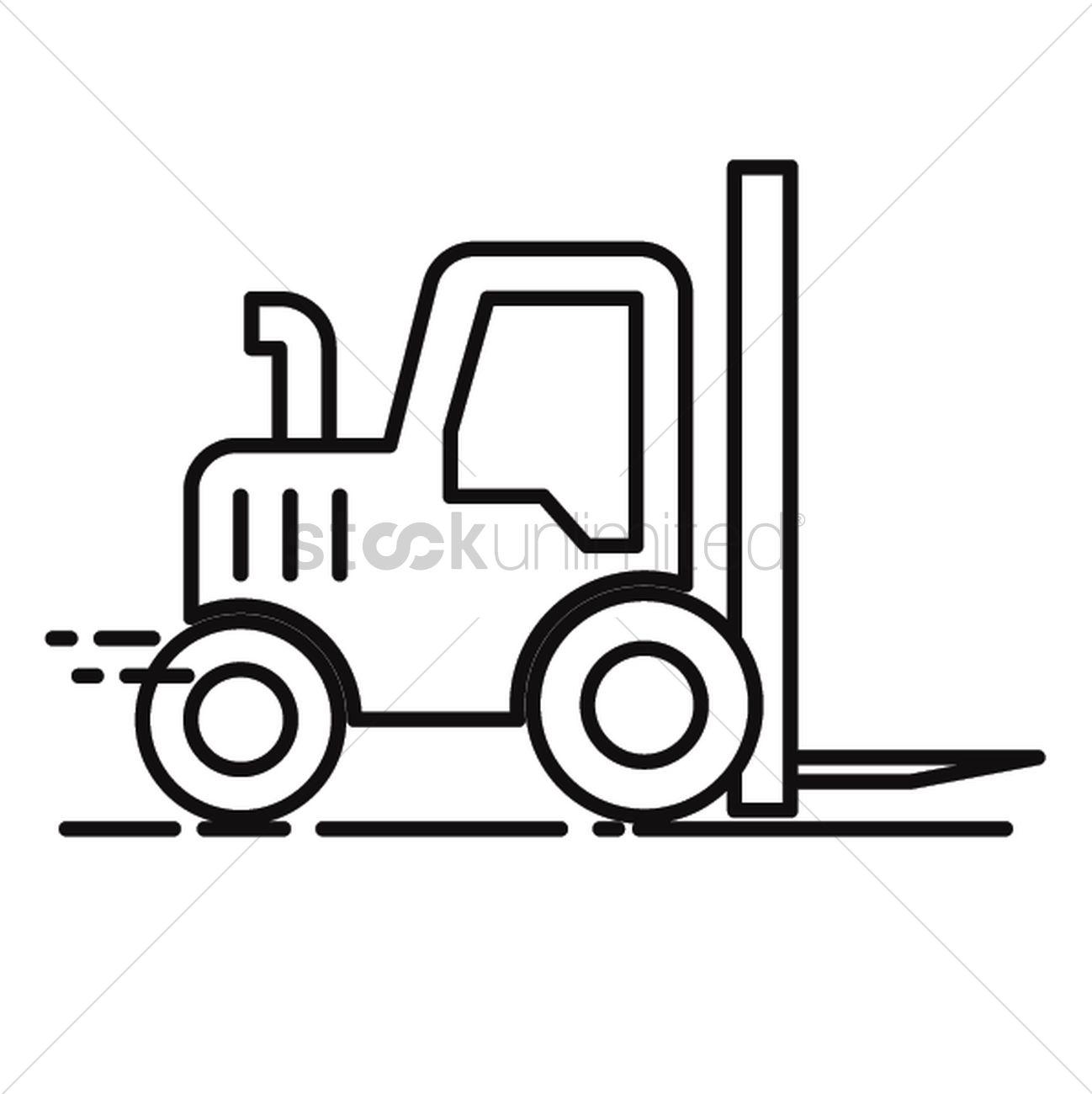 1298x1300 Forklift Vector Image