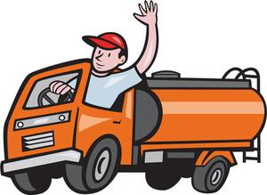 300x219 Illustration Of A Four 4 Wheeler Tanker Truck Petrol Tanker