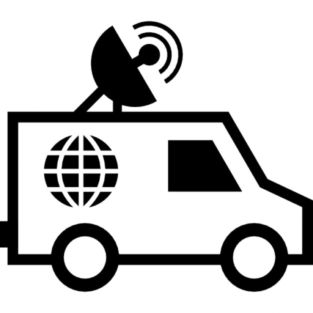 626x626 Journalist Van With Satellite Icons Free Download