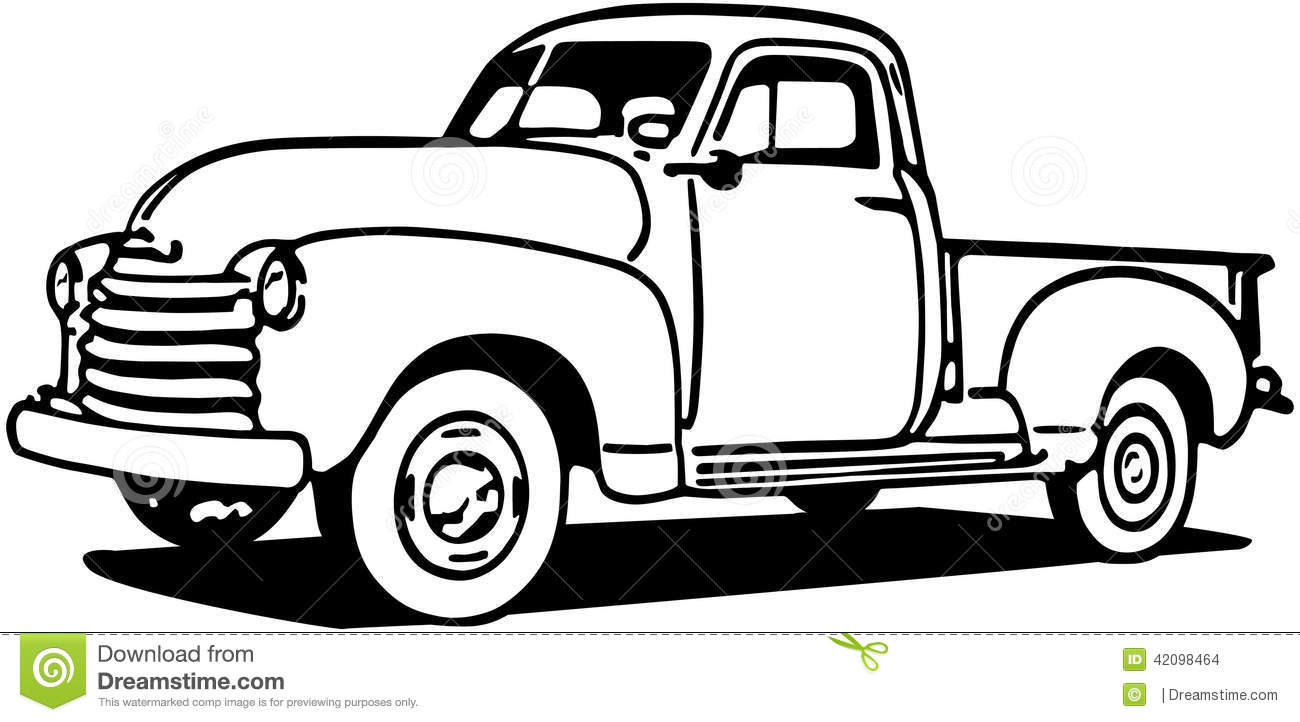 1300x722 Old Truck Clipart