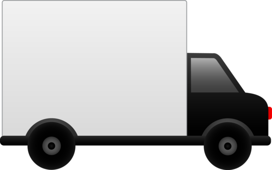 550x344 White Delivery Truck