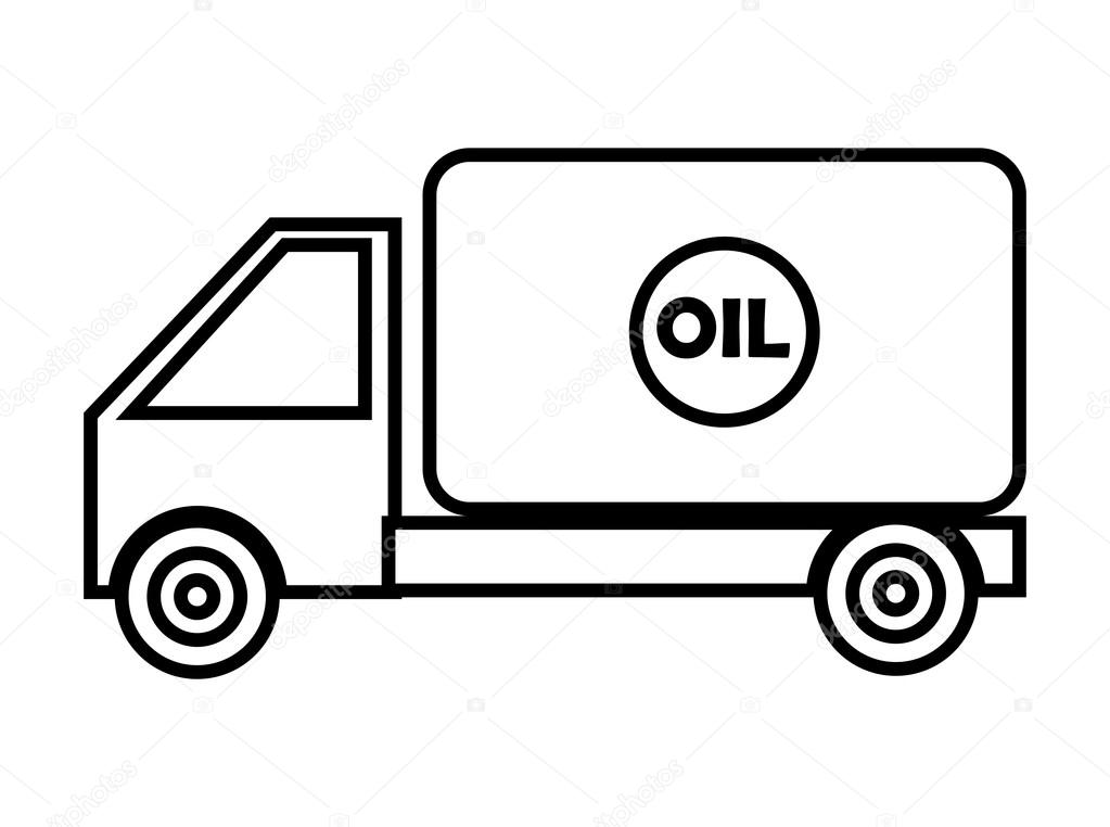 1023x762 Black And White Cargo Truck, Vector Graphic Stock Vector