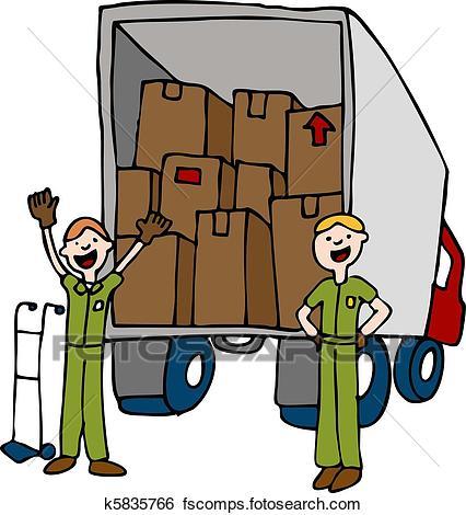 426x470 Clip Art Of Friendly Moving Company K5835766