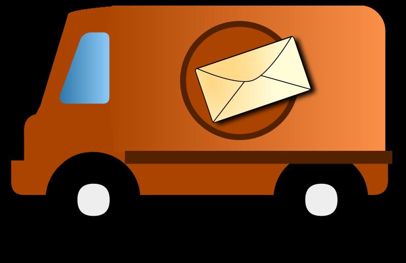 800x518 Mail Van Clip Art Download