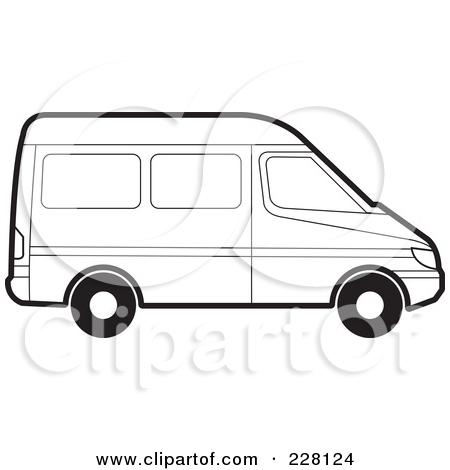 450x470 Van Outline Clip Art