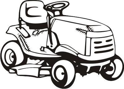 400x288 Lawn Mower Pink Riding Mower Clipart