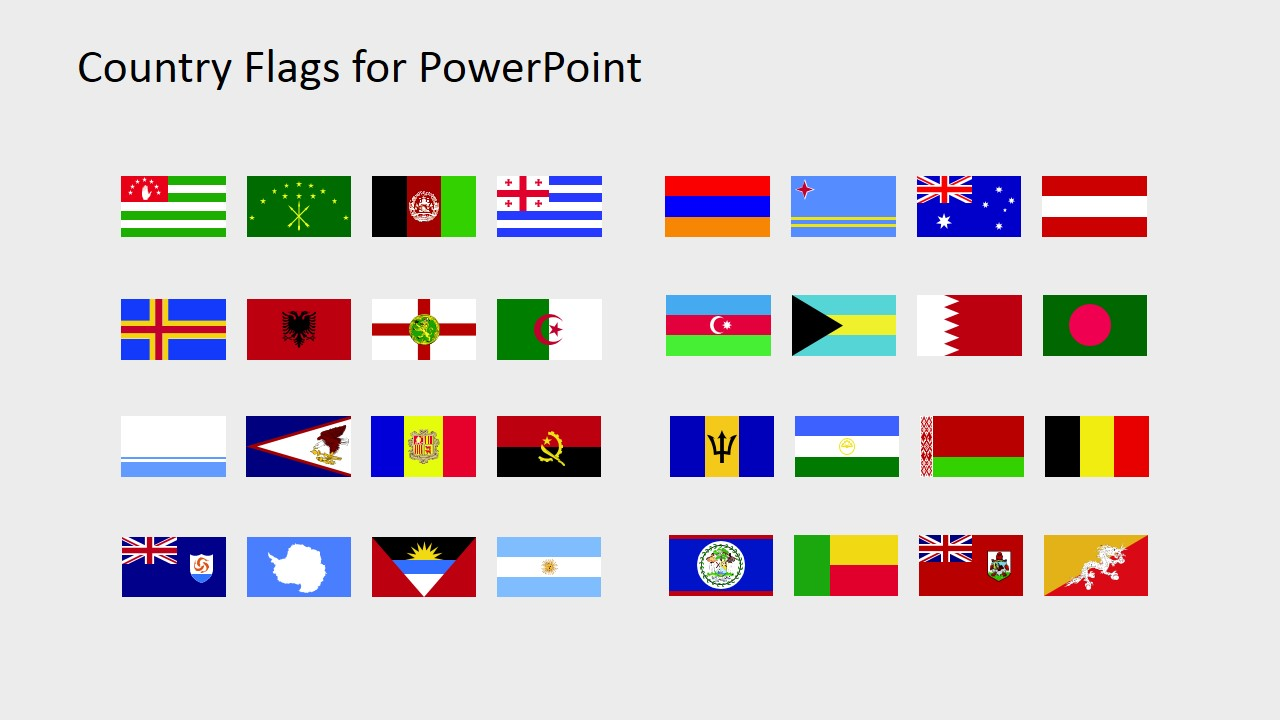 1280x720 Country Flags Clipart For Powerpoint (A To B)