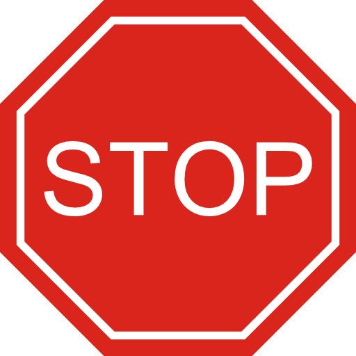 512x512 Stop Sign Clip Art